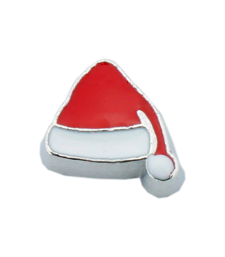 Santa Hat Christmas Floating Charm