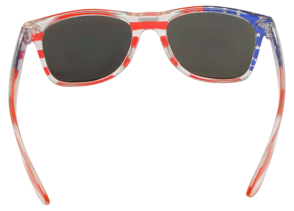 Patriot Pride Flag Sunglasses With Mirrored Lense