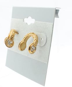 Crystal Headphone Earrings