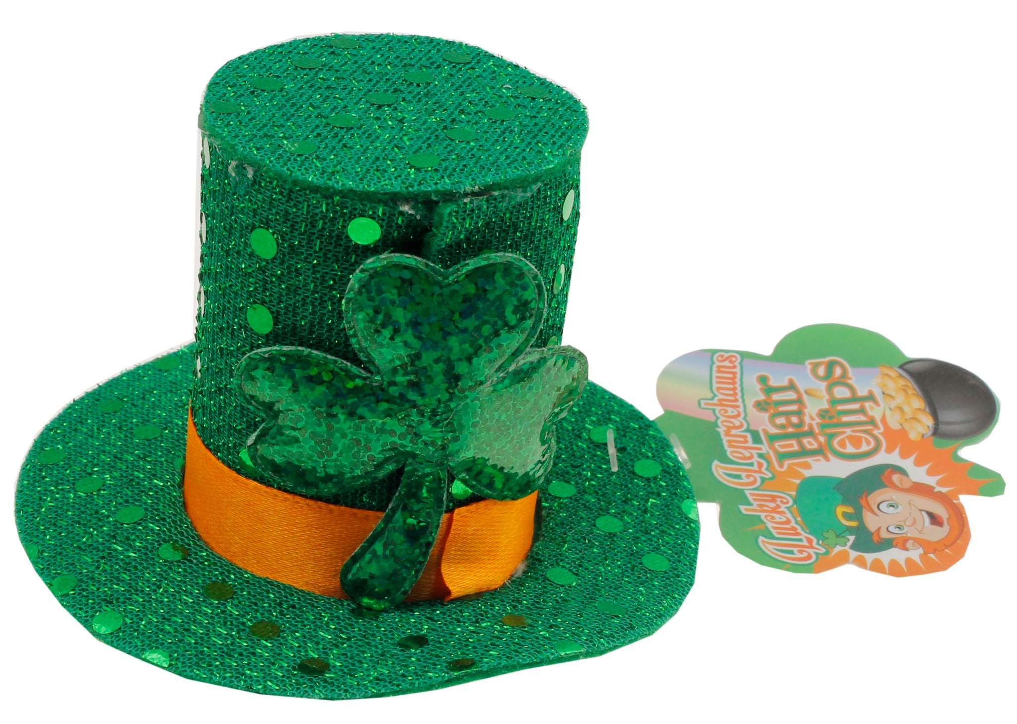 St. Patrick's Day Lucky Leprechauns Fascinator In Green