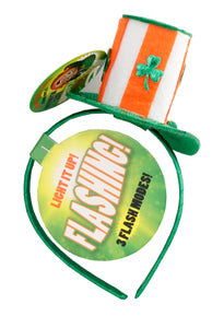 St. Patrick's Day Flashing Headband -Orange