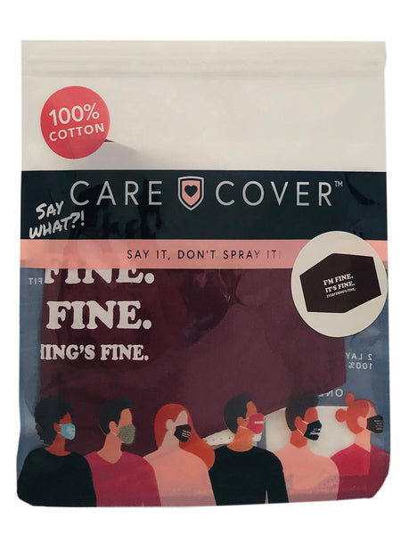 I'm Fine. It's Fine. EVERYTHING IS FINE. Adult Care Cover Face Mask