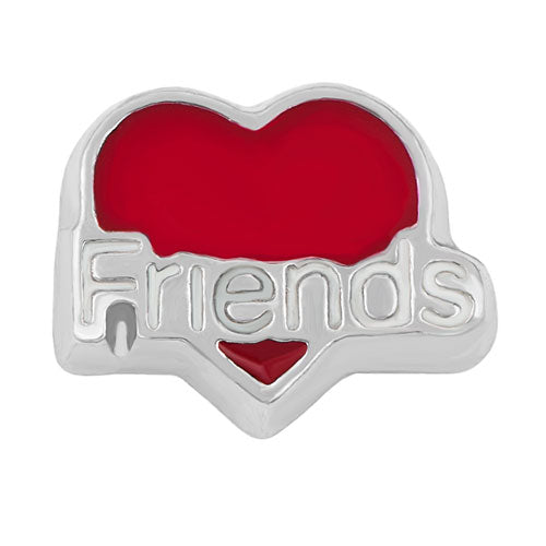 Friends Red Heart Floating Charm