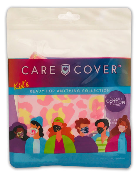 NEW! Pink Leopard Print Kids Care Cover Face Mask
