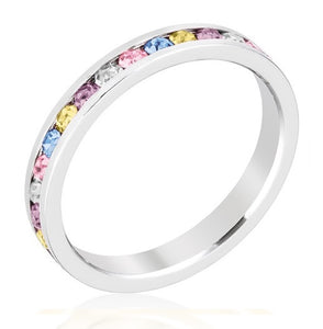 Multi Color Eternity Ring