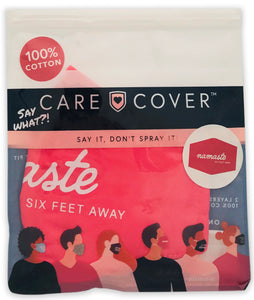 Namaste Six Feet Away Adult Care Cover Face Mask