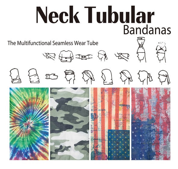 Neck Tublar Multi Function Cooling Face And Neck Cover Bandana