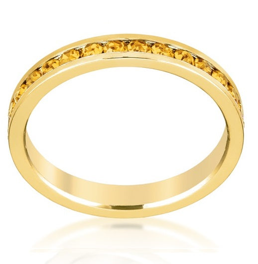 November Stackable Eternity Ring In Gold