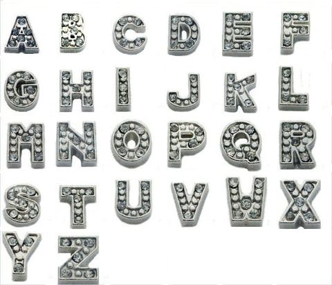 Silver Letters Floating Charms