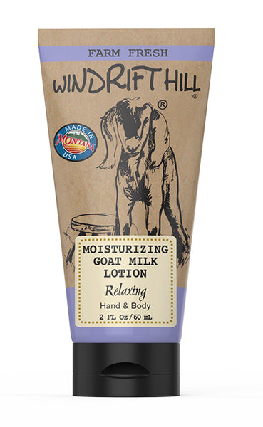 NEW! Windrift Hill Handmade Moisturizing Goats Milk Lotion For Dry Skin- 2oz Travel Tube
