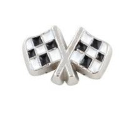 Nascar Racing Flag Floating Charm