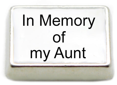 In Memory of My Aunt Floating Charm