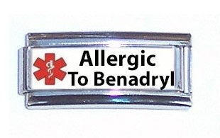 Allergic To Benadryl Super Link 9mm Italian charm