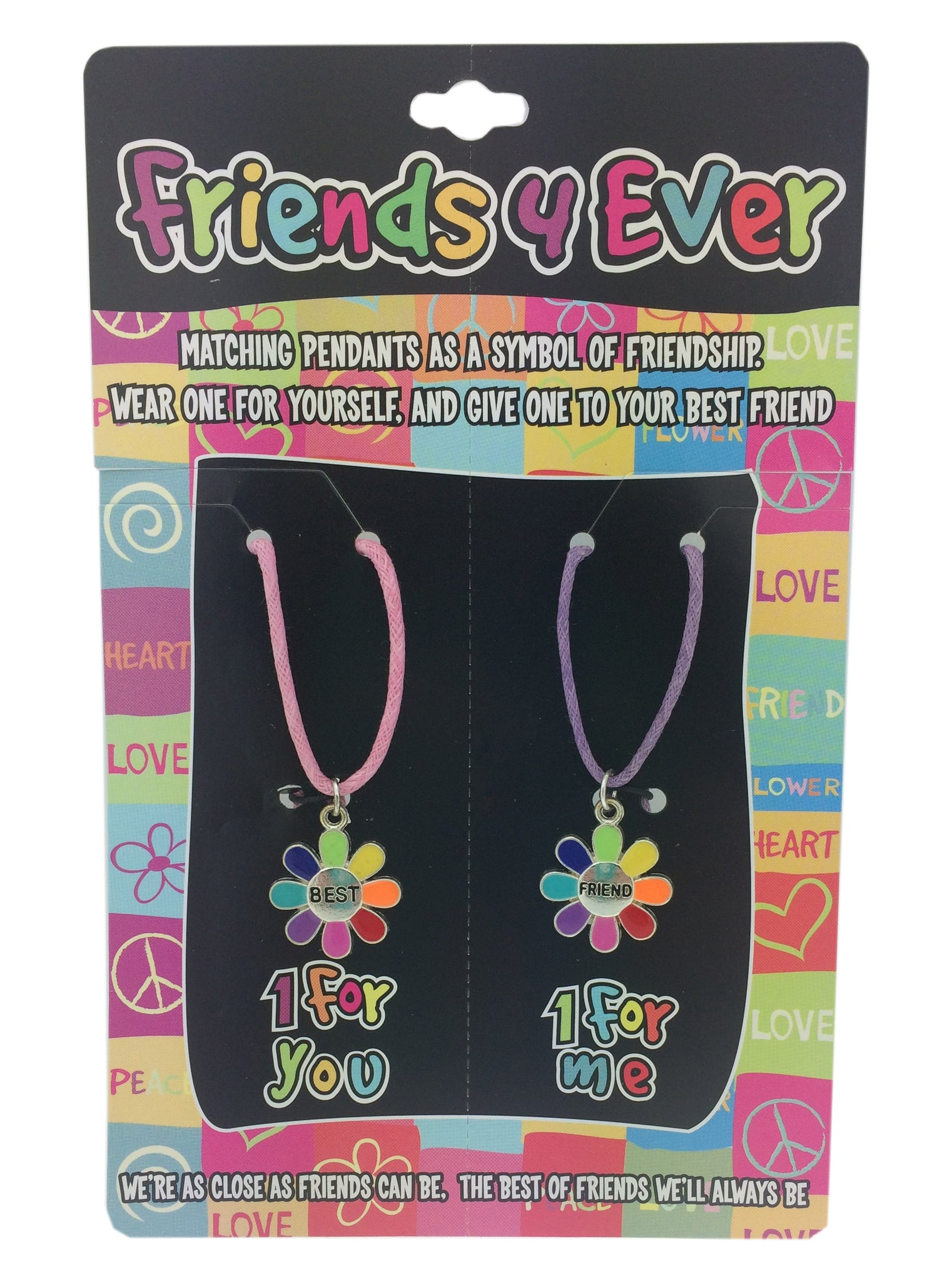 Friends 4 Ever Best Friends Necklace Set