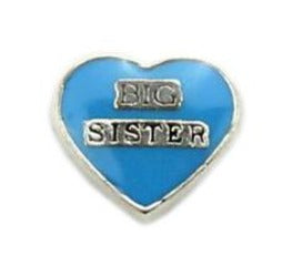 Big Sister Heart Floating Charm