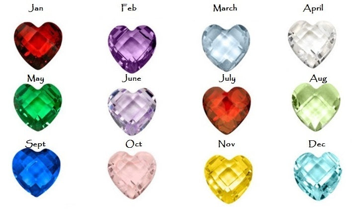 Heart Shape Birthstone Floating Charms