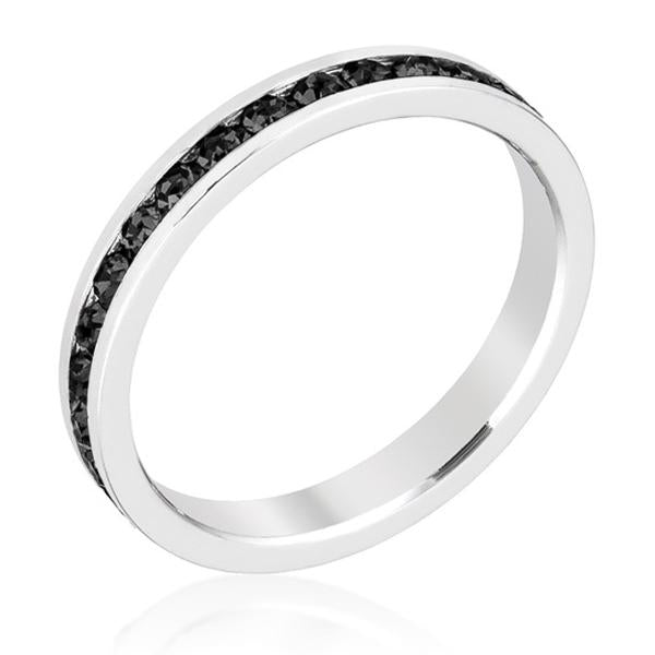 Jet Black Stackable Eternity Ring