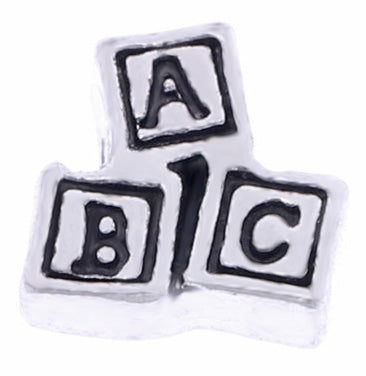 ABC Block Floating Charm