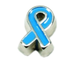 Blue Ribbon Floating Charm