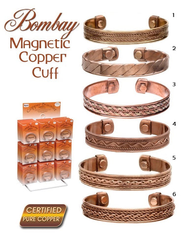 Bombay Magnetic Copper Cuffs