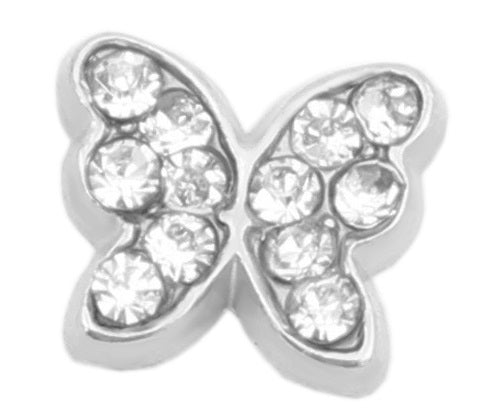 CZ Butterfly Floating Charm