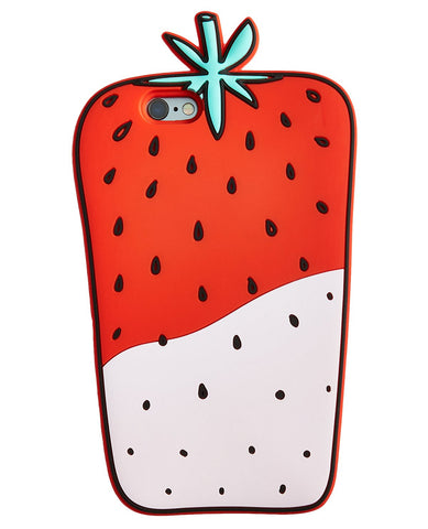 Strawberry Silicon Cell Phone Case For Samsung Galaxy S7