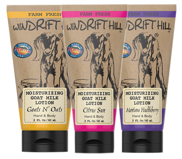 Windrift Hill Handmade Moisturizing Goats Milk Lotion For Dry Skin- 2oz Travel Tube
