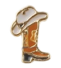 Cowboy Boot And Hat Floating Charm