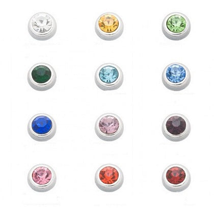Silver Trim Birthstone Floating Charm