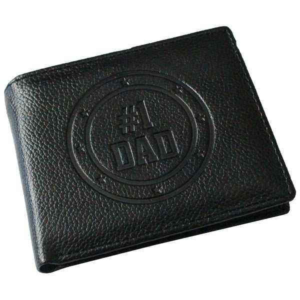 #1 Dad Embossed Bifold Wallet