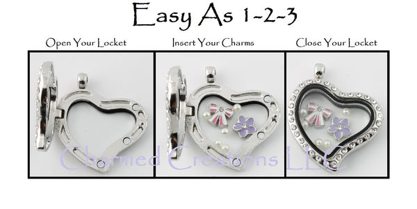 Easy As 1-2-3 Floating Charm Locket