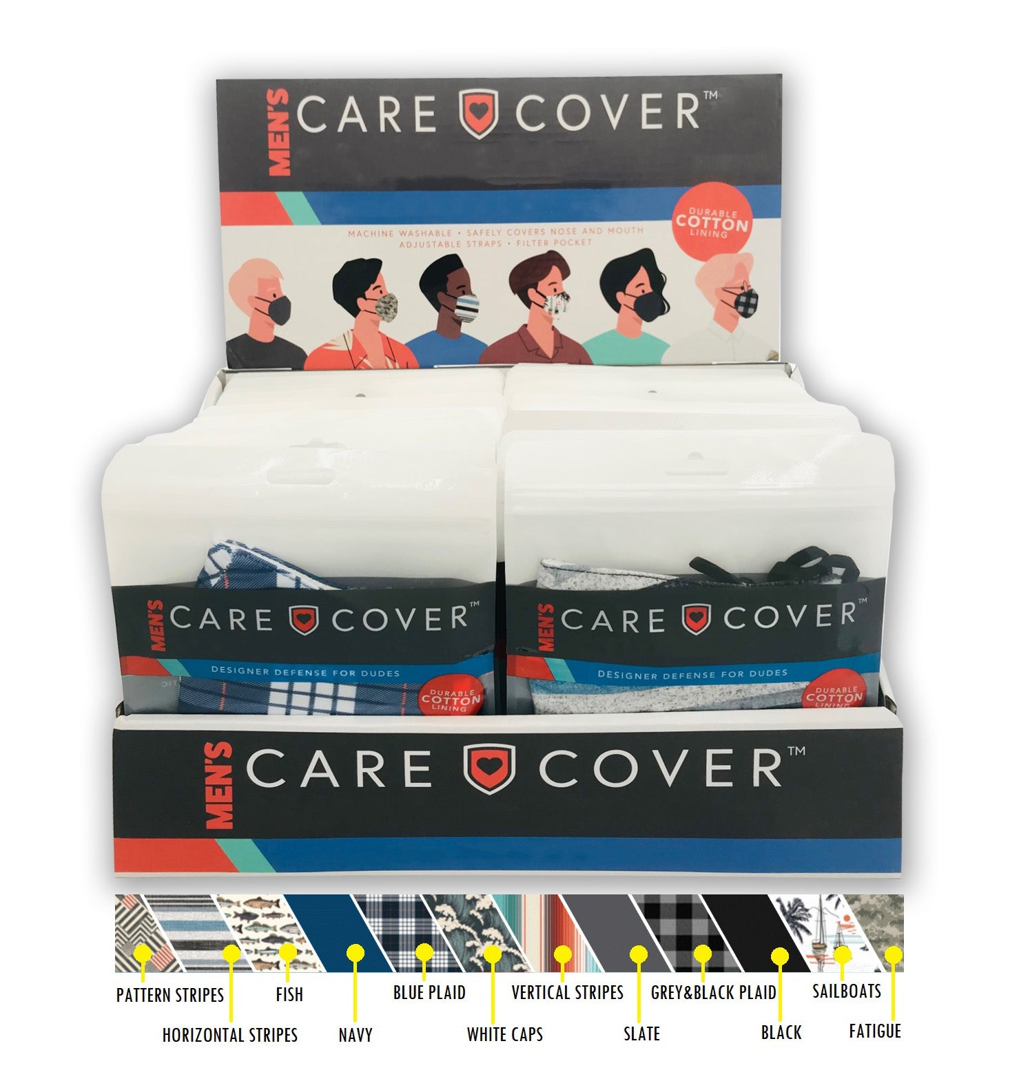 NEW! Men's Care Cover Face Mask