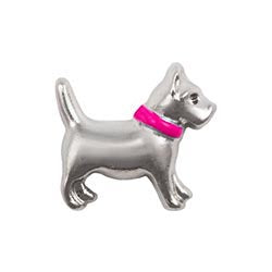 Pink Collar Dog Floating Charm