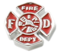 Firefighter Emblem Floating Charm