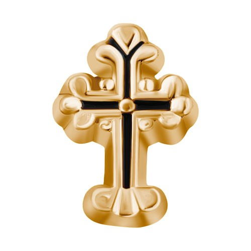 Gold Cross Floating Charm