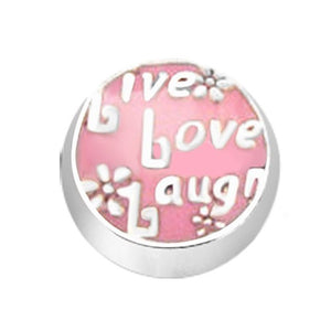 Pink Live Love Laugh Floating Charm