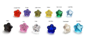 Flower Shape Birthstone Floating Charms