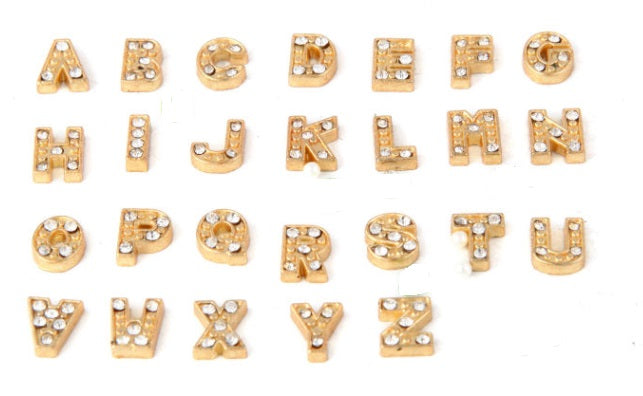 Gold Letters Floating Charms