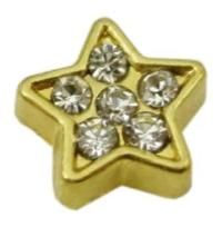 Gold Star Floating Charm