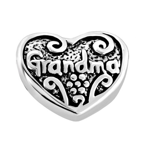Grandma Heart European Bead