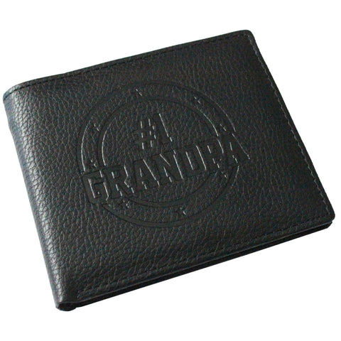 #1 Grandpa Embossed Bifold Wallet