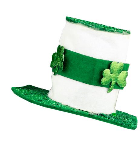 St. Patrick's Day Lucky Leprechauns Fascinator In White