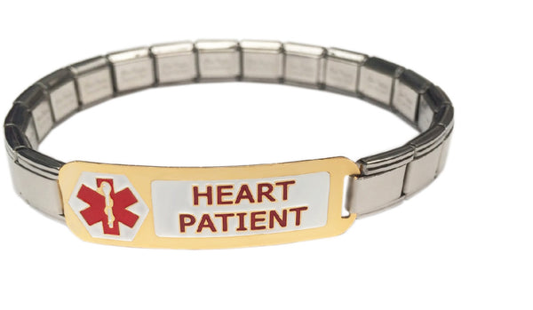 Heart Patient Medical Alert 9mm Italian Charm Starter Bracelet