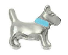 Blue Collar Dog Floating Charm