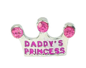 Daddy's Princess Floating Charm