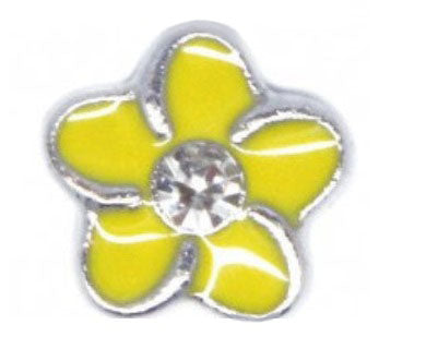 Yellow Flower Floating Charm
