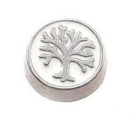 White Family Tree Floating Charm