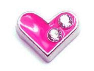 Hot Pink Heart Floating Charm