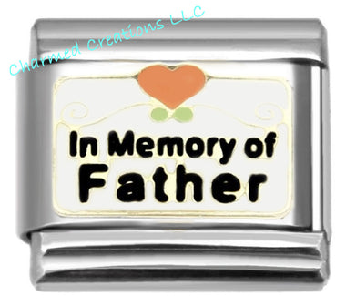 In Memory Of My Father 9mm Italian charm