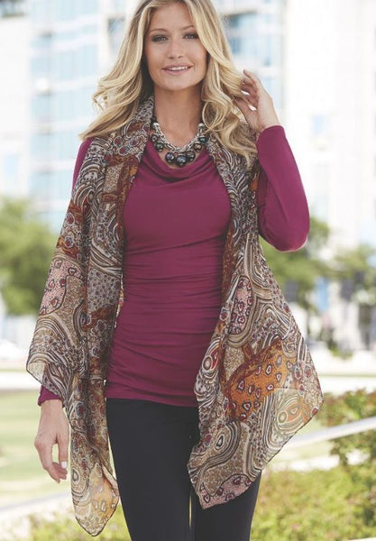 Red Charcoal Persian Vest By Lavello